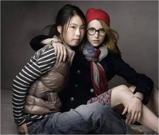 GAP China - Print Ad (Wang Momo and Julia Frakes)