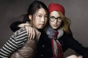 GAP China: Print-Ad-Wang-Momo-and-Julia-Frakes