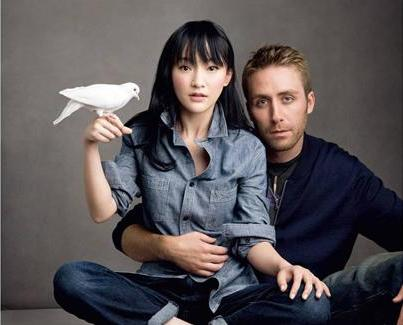 GAP China - Print Ad (Zhou Xun and Phillipe Costeau Jr)