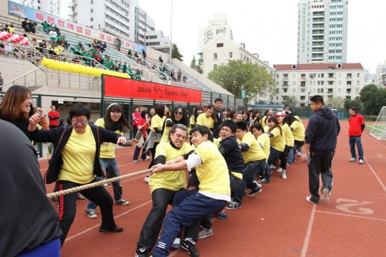 A sports day at the Shanghai office