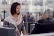 Chinese tennis star Li Na appears in a Nike television commercial involving US customs.